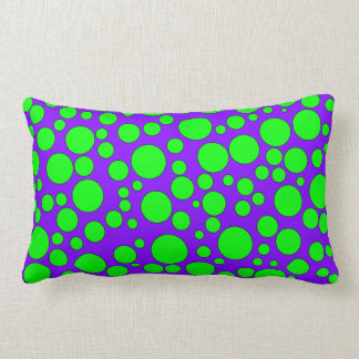 PURPLE AND GREEN BUBBLES THROW PILLOW