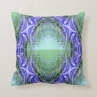 Purple and Green Geometric American MoJo Pillows