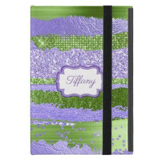 Purple and Green Glitz iPad Mini Case