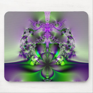 Purple and Green Glory Mouse Pad