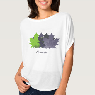 Purple and Green Leaves T-Shirt