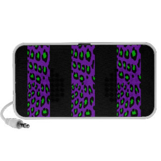 Purple and Green Leopard Stripes Mp3 Speaker