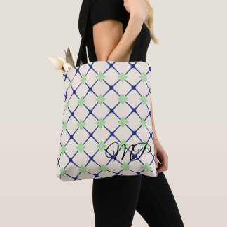Purple and Green Moroccan Pattern Tote Bag