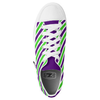 [Purple and Green] Striped Sneakers