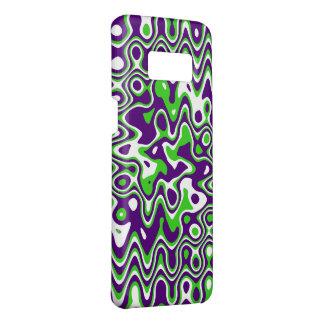 [Purple and Green] Swirls Op-Art Case-Mate Samsung Galaxy S8 Case