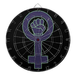 Purple and green venus mirror design dart boards