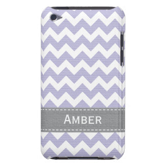 Purple and Grey Chevron iPod Touch 4g Case Cover
