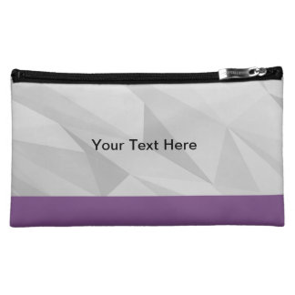 Purple and Grey Cosmetic Bag