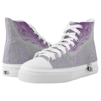 purple and grey paint mix high tops