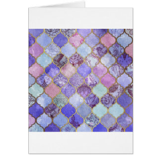 Purple and Light Blue Moroccan Tile Pattern Card