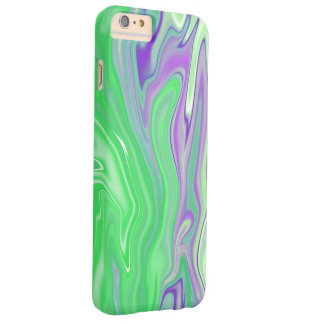 purple and lime marble abstract barely there iPhone 6 plus case