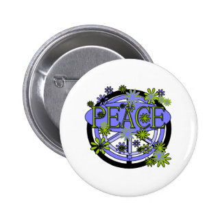 Purple and Lime Peace Pins