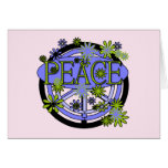 Purple and Lime Peace T-shirts and Gifts Greeting Card
