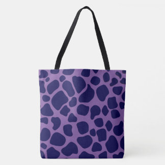 Purple and Midnight Blue Giraffe Tote Bag