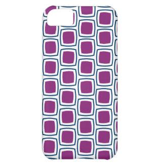 Purple and Navy Modern Geometric Pattern iPhone iPhone 5C Case