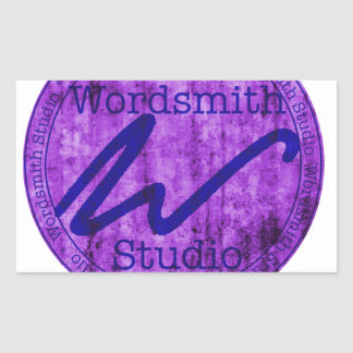 Purple and Navy WSS Logo Rectangle Sticker