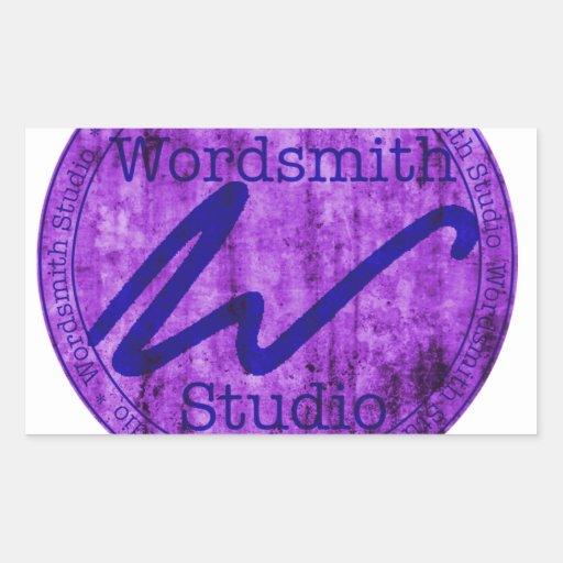 Purple and Navy WSS Logo Rectangle Sticker