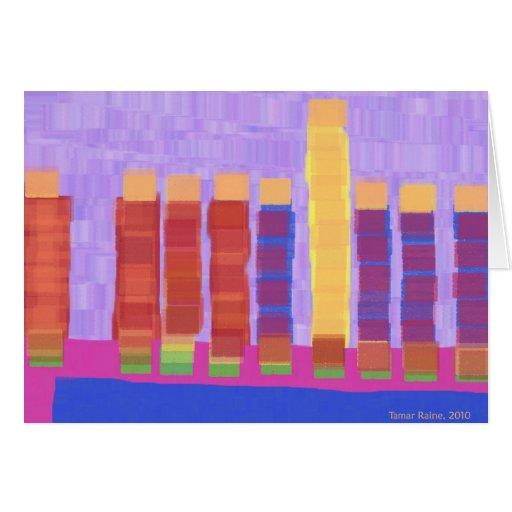 purple and orange chanukkah card