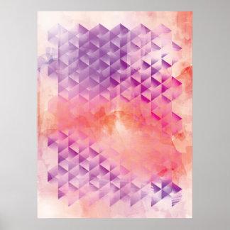 Purple and Orange Geometric Poster
