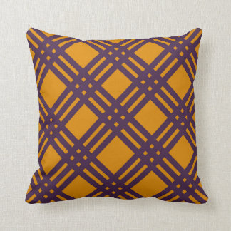 Purple and Orange Lattice Cushion