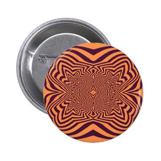 Purple and orange Opart 6 Cm Round Badge