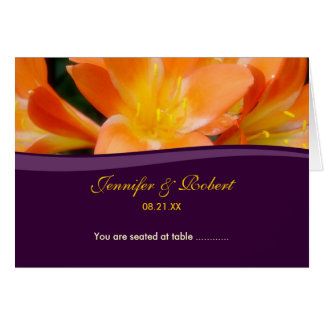 Purple and Orange Seating Place Card