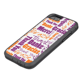 Purple and Orange Thank You Word Cloud Tough Xtreme iPhone 6 Case