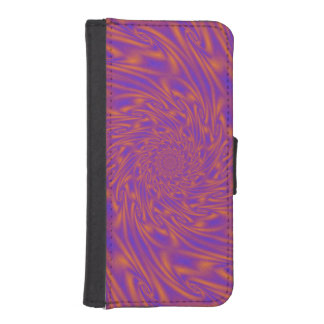 Purple and Orange Vortex iPhone SE/5/5s Wallet Case