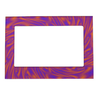 Purple and Orange Vortex Magnetic Frame