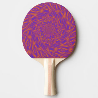 Purple and Orange Vortex Ping Pong Paddle