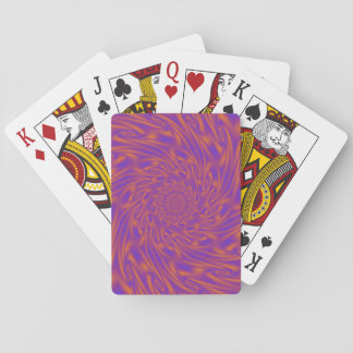 Purple and Orange Vortex Playing Cards