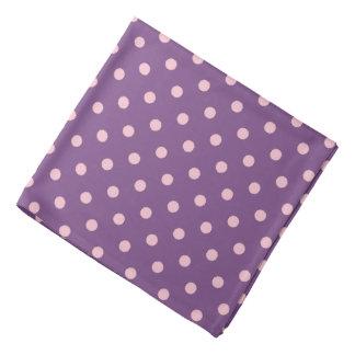 Purple And Pastel Pink Polka Dot Pattern Bandana