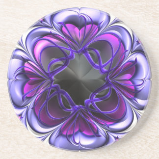 Purple and Pink Abstract Coaster