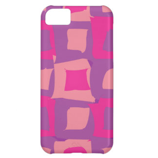 Purple and Pink Abstract Shapes Case For iPhone 5C