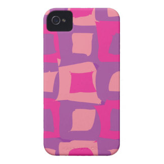Purple and Pink Abstract Shapes iPhone 4 Case-Mate Case