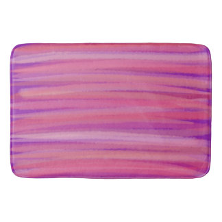 Purple and Pink Brushstrokes Bath Mat