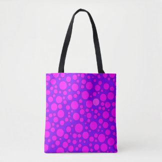 PURPLE AND PINK BUBBLES TOTE BAG