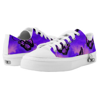 Purple and Pink Butterfly low top sneakers