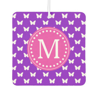 Purple and Pink Butterfly Monogram