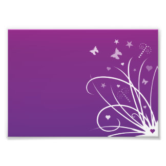 Purple and Pink Butterfly Swirl Art Photo