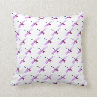 Purple and Pink Dragonfly Cushion