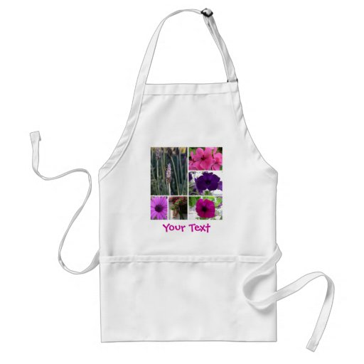 Purple and Pink Flowers Apron