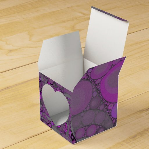Purple and Pink Heart Favour Box Wedding Favor Box