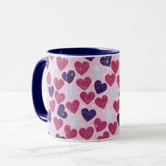 Purple and Pink Heart Mug