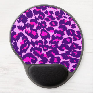 Purple and Pink Leopard Spots Gel Mouse Pad