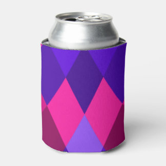 Purple and Pink Mosaic Diamonds Can Cooler