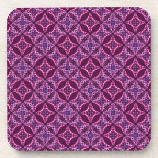 Purple And Pink Mosaic Pattern Coaster