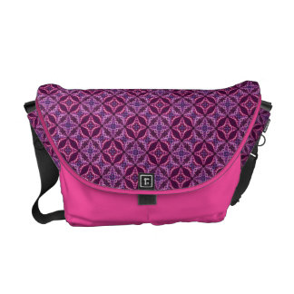 Purple And Pink Mosaic Vintage Pattern Commuter Bag