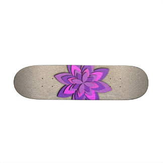 Purple and Pink Paper Flower Skateboard