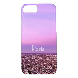 Purple and Pink Paris Destination Sunset. iPhone 8/7 Case